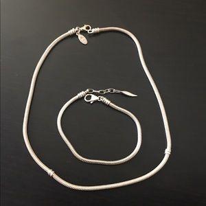 .925 Sterling Silver Necklace and Bracelet